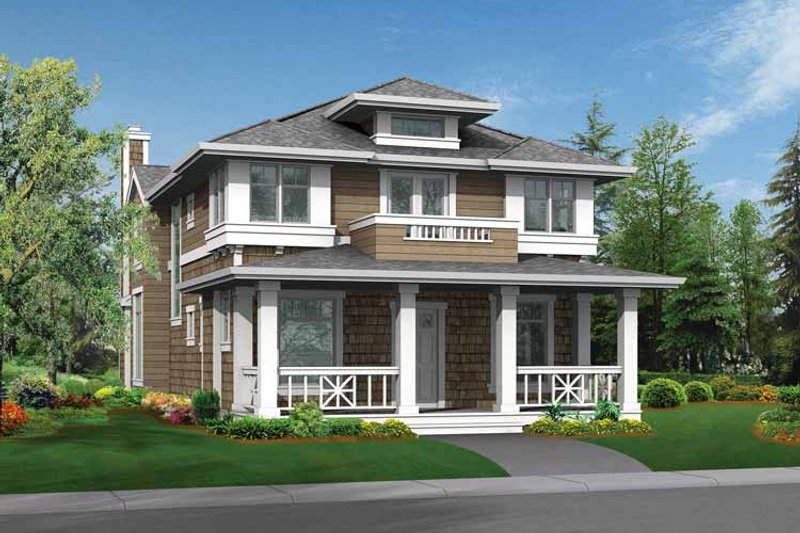 Architectural House Design - Craftsman Exterior - Front Elevation Plan #132-322