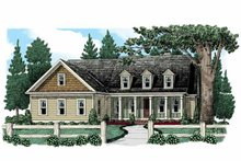 Colonial Exterior - Front Elevation Plan #927-943