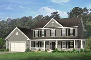 Dream House Plan - Colonial Exterior - Front Elevation Plan #1010-152
