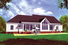 Country Exterior - Rear Elevation Plan #21-416