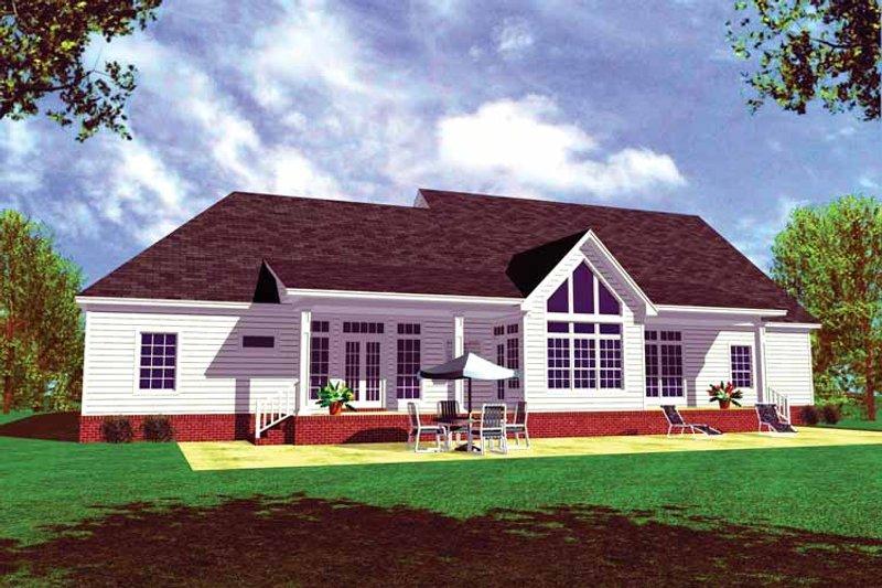 Country Exterior - Rear Elevation Plan #21-416 - Houseplans.com