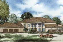 Home Plan - Mediterranean Exterior - Front Elevation Plan #17-3282