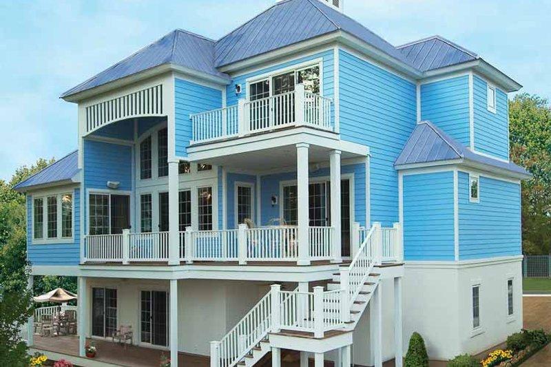 Traditional Exterior - Rear Elevation Plan #930-121 - Houseplans.com