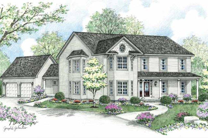 Victorian Exterior - Front Elevation Plan #1002-21 - Houseplans.com