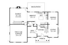 Colonial Floor Plan - Main Floor Plan Plan #1053-48