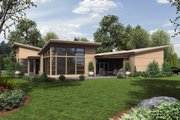 Modern Style House Plan - 4 Beds 2.5 Baths 2507 Sq/Ft Plan #48-479 Exterior - Rear Elevation