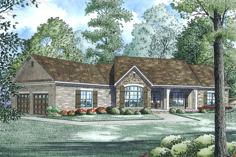 Traditional Style House Plan - 3 Beds 2.5 Baths 2279 Sq/Ft Plan #17-2520