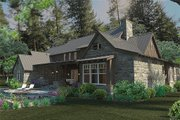 Craftsman Style House Plan - 4 Beds 4 Baths 4164 Sq/Ft Plan #120-186 Exterior - Rear Elevation