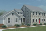 Colonial Style House Plan - 4 Beds 2.5 Baths 2423 Sq/Ft Plan #446-2 Exterior - Other Elevation