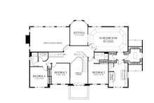 Classical Floor Plan - Upper Floor Plan Plan #1029-64