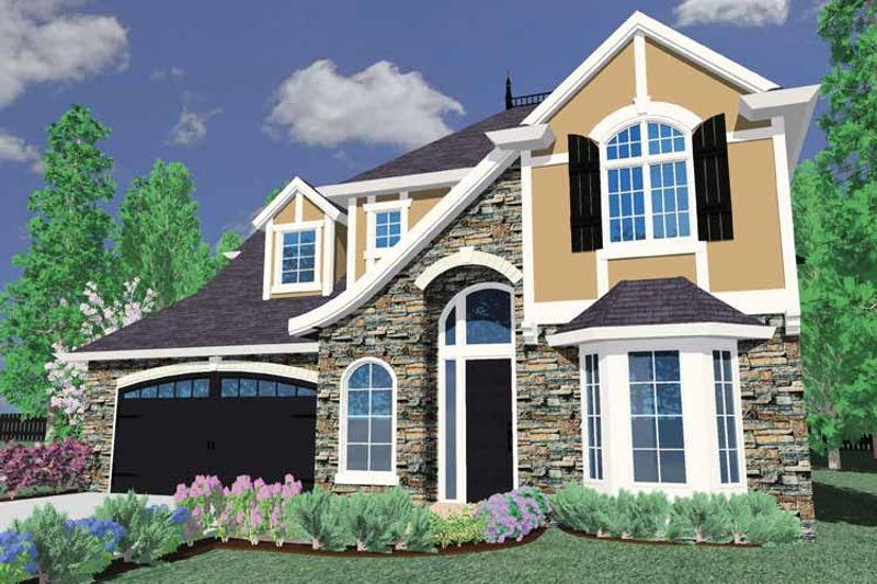 Country Exterior - Front Elevation Plan #509-376