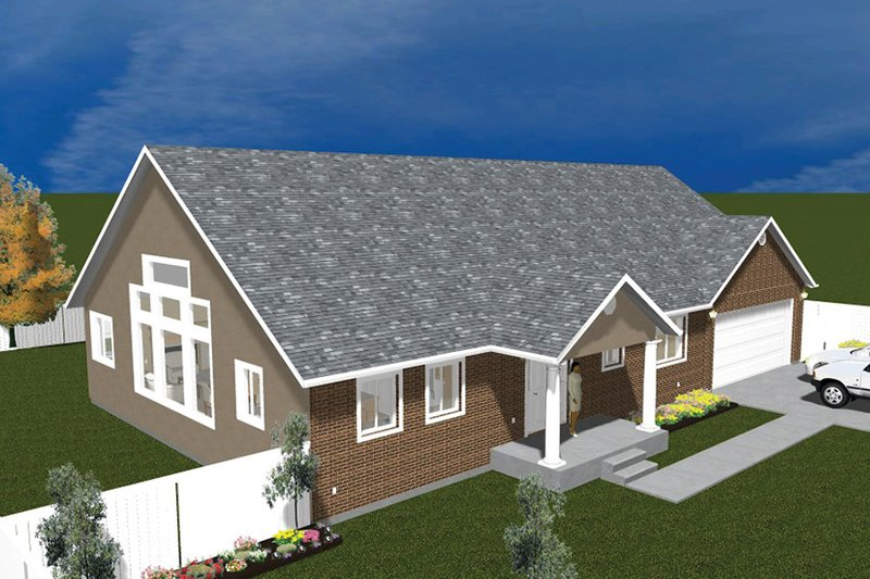 Traditional Exterior - Front Elevation Plan #1060-20 - Houseplans.com