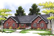 Traditional Style House Plan - 3 Beds 2.5 Baths 1700 Sq/Ft Plan #70-175 Exterior - Front Elevation