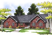 Dream House Plan - Traditional Exterior - Front Elevation Plan #70-175