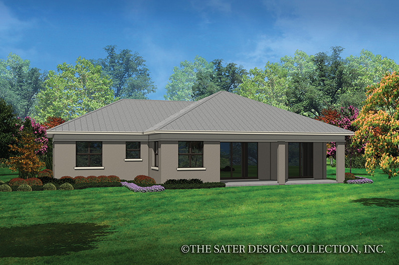Contemporary Exterior - Rear Elevation Plan #930-451 - Houseplans.com