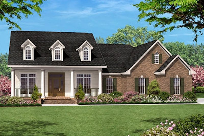 Southern Style House Plan - 3 Beds 2 Baths 1500 Sq/Ft Plan #430-11 Exterior - Front Elevation