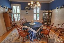 Home Plan - Dining - 2600 square foot Southern home
