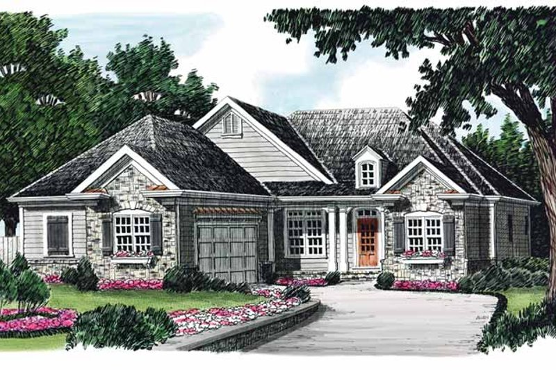 Home Plan - Country Exterior - Front Elevation Plan #927-608