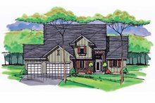 Colonial Exterior - Front Elevation Plan #51-1033
