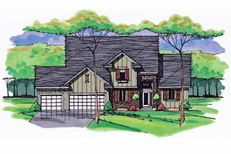Colonial Exterior - Front Elevation Plan #51-1033 - Houseplans.com