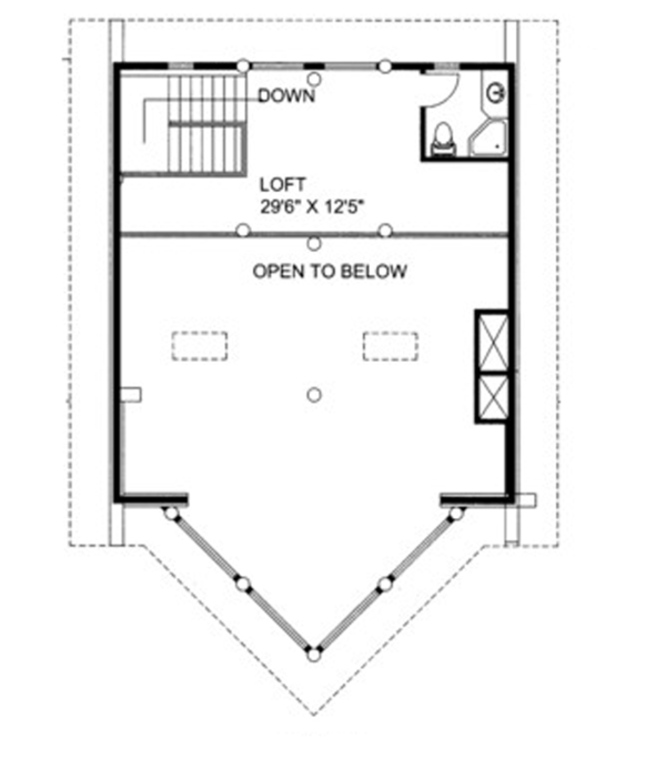 Log Floor Plan - Upper Floor Plan Plan #117-823