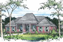 Classical Exterior - Front Elevation Plan #15-380