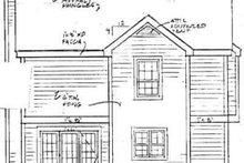 Victorian Exterior - Rear Elevation Plan #3-128