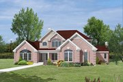 Country Style House Plan - 4 Beds 3.5 Baths 3861 Sq/Ft Plan #57-337 Exterior - Other Elevation