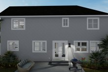 Dream House Plan - Traditional Exterior - Rear Elevation Plan #1060-68