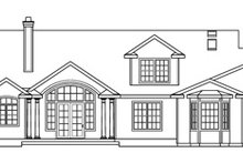 Dream House Plan - Traditional Exterior - Rear Elevation Plan #124-576