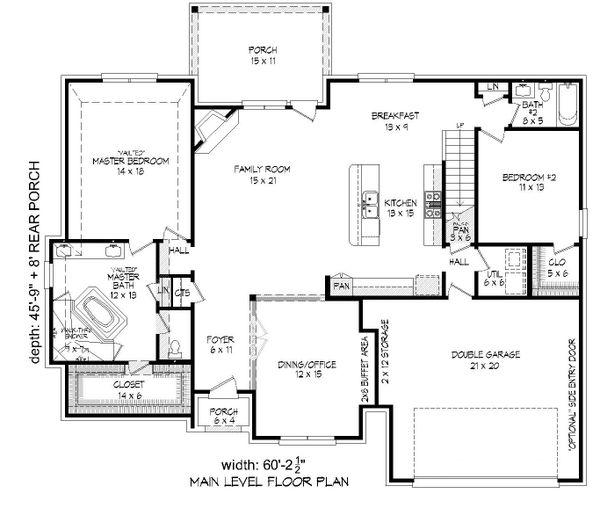 Country Floor Plan - Main Floor Plan Plan #932-272