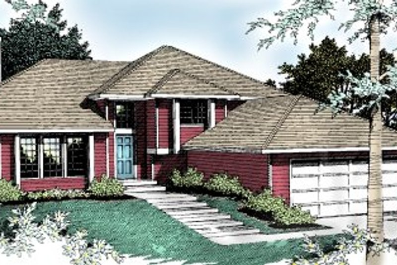 Traditional Exterior - Front Elevation Plan #90-402 - Houseplans.com