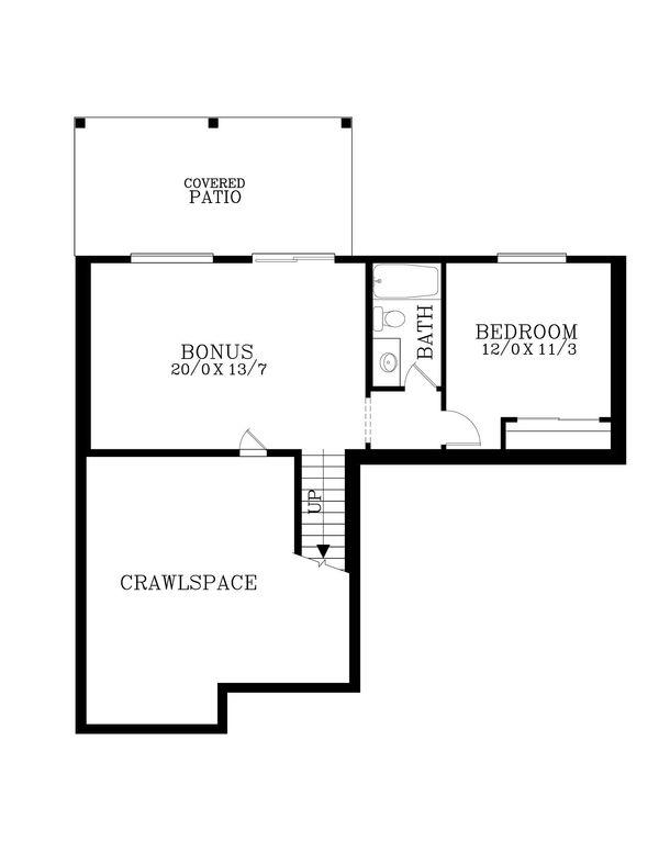 House Plan Design - Craftsman Floor Plan - Lower Floor Plan #53-536