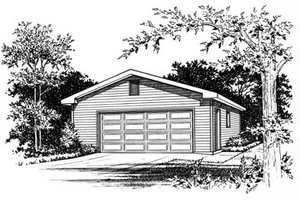 Traditional Exterior - Front Elevation Plan #22-409