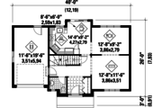 European Style House Plan - 3 Beds 1 Baths 1300 Sq/Ft Plan #25-4784 Floor Plan - Main Floor Plan