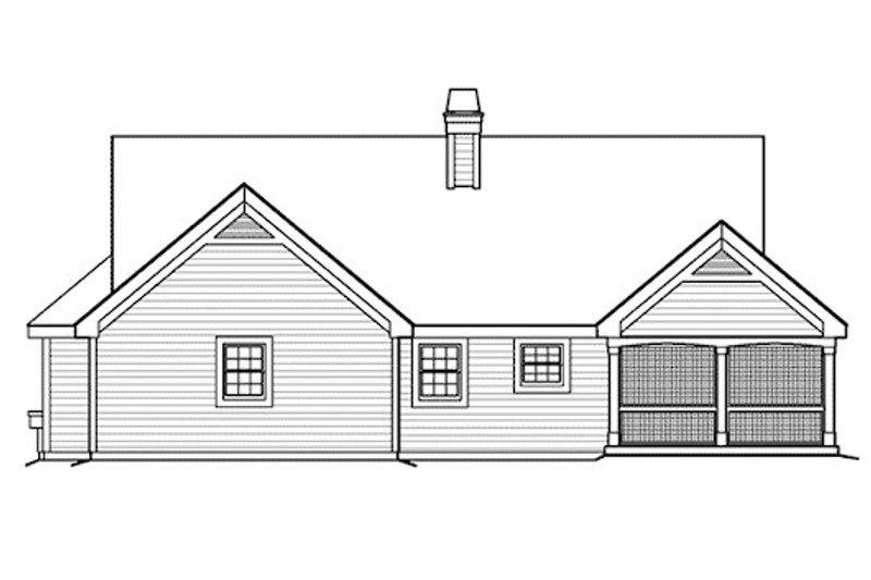 Farmhouse Exterior - Rear Elevation Plan #57-377 - Houseplans.com