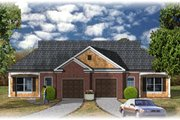 Traditional Style House Plan - 2 Beds 2 Baths 2020 Sq/Ft Plan #26-138 Exterior - Front Elevation