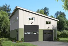 Contemporary Exterior - Front Elevation Plan #932-72