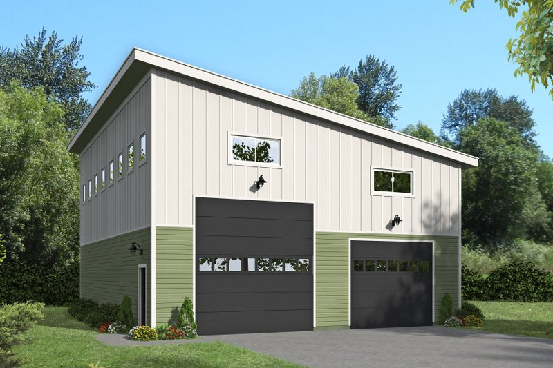 Home Plan - Contemporary Exterior - Front Elevation Plan #932-72