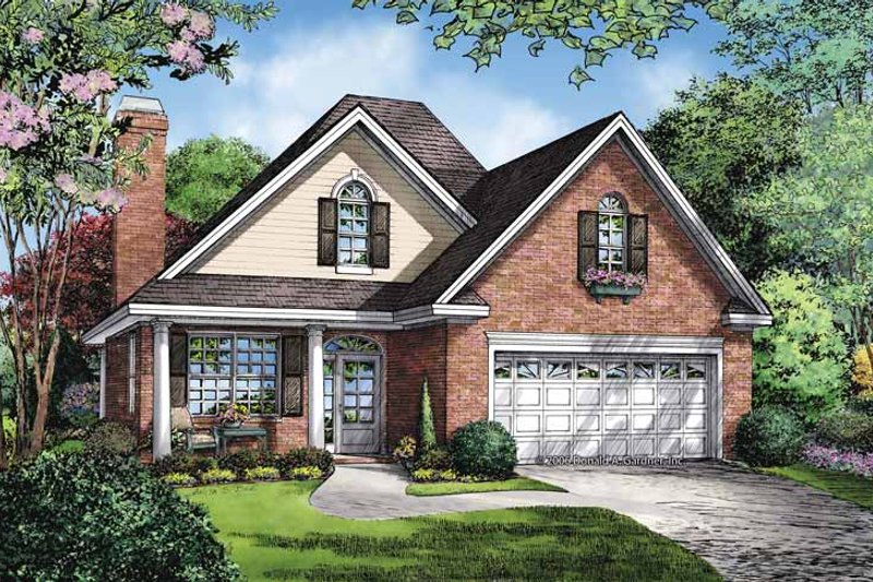 Ranch Exterior - Front Elevation Plan #929-865 - Houseplans.com