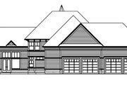 Victorian Style House Plan - 3 Beds 3 Baths 3457 Sq/Ft Plan #124-559 Exterior - Rear Elevation