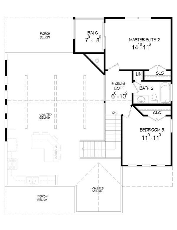 House Plan Design - Country Floor Plan - Upper Floor Plan #932-2