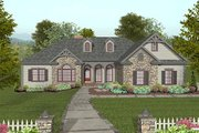 Craftsman Style House Plan - 3 Beds 2.5 Baths 2000 Sq/Ft Plan #56-568 Exterior - Other Elevation