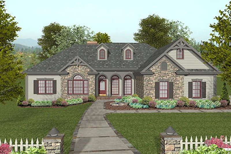 Craftsman Exterior - Other Elevation Plan #56-568 - Houseplans.com