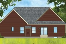 Dream House Plan - Ranch Exterior - Rear Elevation Plan #1010-190