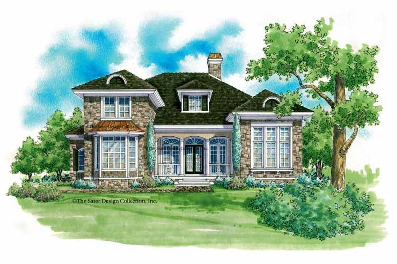 Traditional Exterior - Front Elevation Plan #930-208 - Houseplans.com