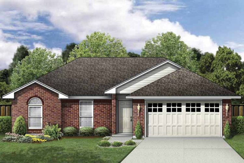 House Plan Design - Traditional Exterior - Front Elevation Plan #84-744