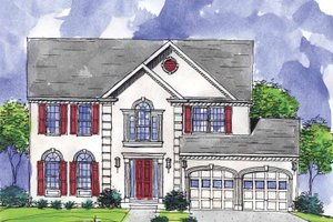 Colonial Exterior - Front Elevation Plan #320-902