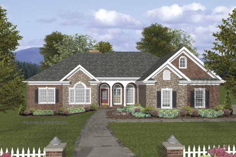 Home Plan - Craftsman Exterior - Front Elevation Plan #56-688