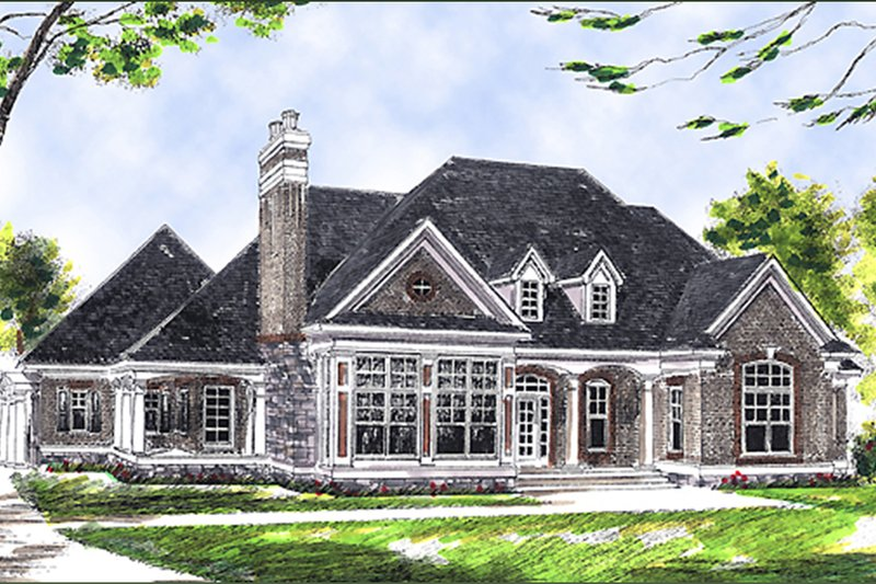 Traditional Exterior - Other Elevation Plan #70-367 - Houseplans.com